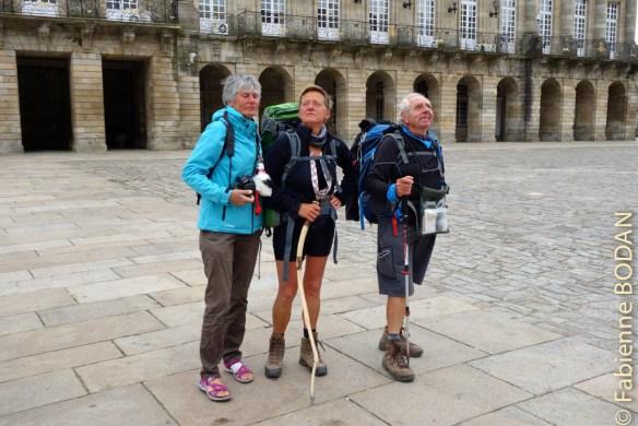 Merveilleuse aventure humaine de trois Mousquetaires qui ne se connaissaient pas, se sont découvert et ont apprécié cheminer ensemble de Séville à Santiago © Fabienne Bodan