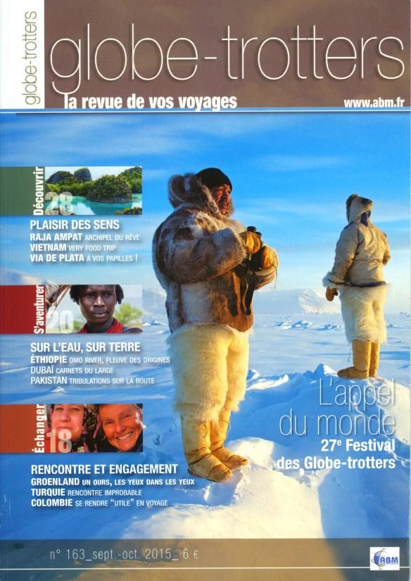 Couverture du N°163 de Globe-Trotters Magazine de l'association de voyageurs ABM.