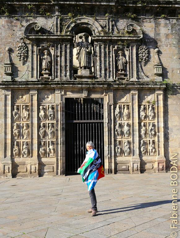 Porte Sainte cathédrale Saint-Jacques de Compostelle