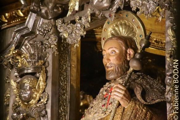Statue de Saint-Jacques cathédrale de Saint-Jacques de Compostelle