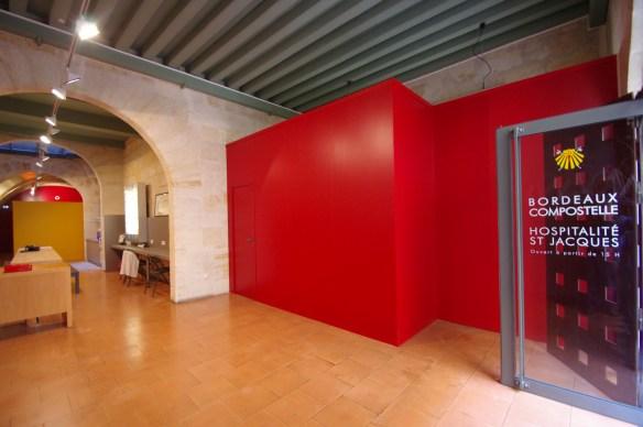 L'entrée de la maison du pèlerin de Bordeaux © Association Bordeaux Compostelle