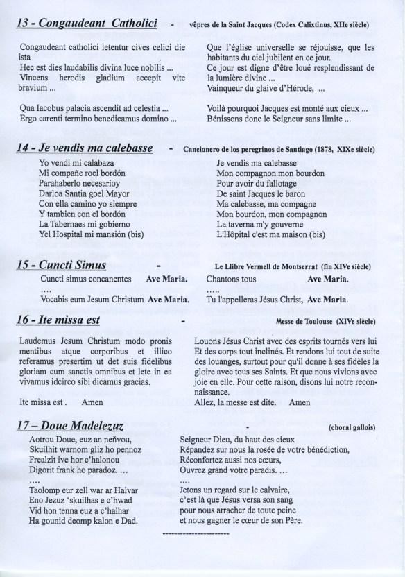 Paroles des chants du concert (4)