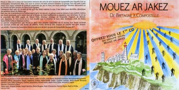 Le premier CD du Choeur Mouez Ar Jakez, enregistré en 2011