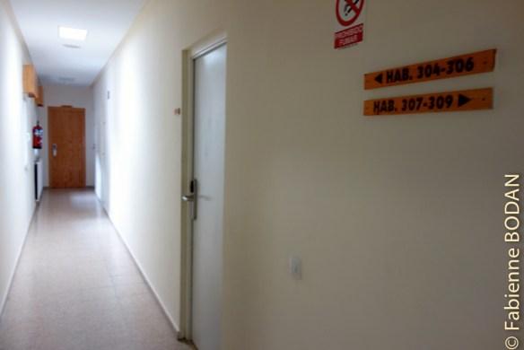 Couloir menant aux chambres © Fabienne Bodan