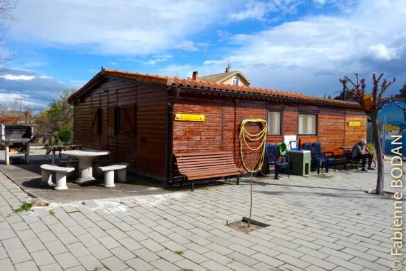 La petite maison en bois, auberge de pèlerins de Puente Duero © Fabienne Bodan