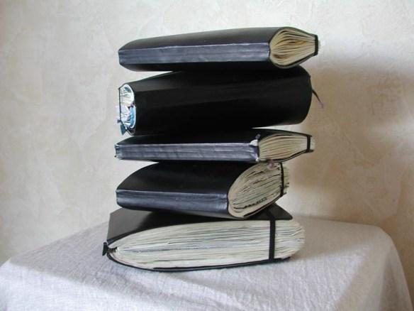 Les carnets Moleskine de © Jean-François Aillet, avec son aimable autorisation