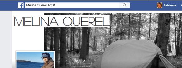 Capture d'écran de la page Facebook de Mélina Quérel