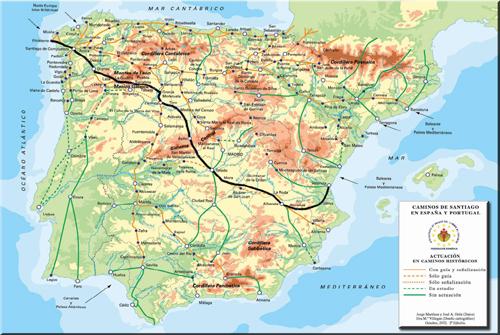 Camino de Levante. Source : http://www.jpeters.nl