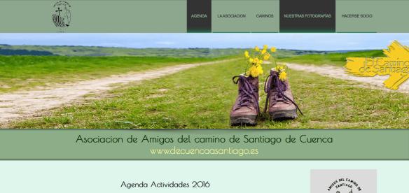 Capture d'écran de l'association des amis de Saint-Jacques de Cuenca (Camino de la Lana)