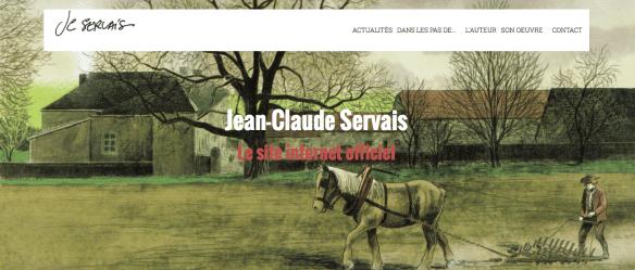 Capture d'écran du site officiel du dessinateur belge de BD Jean-Claude Servais.