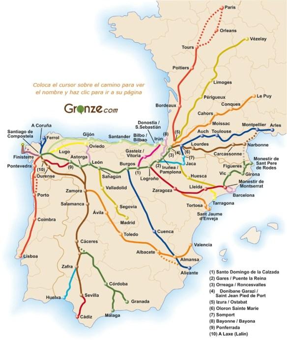 Chemins Compostelle Espagne