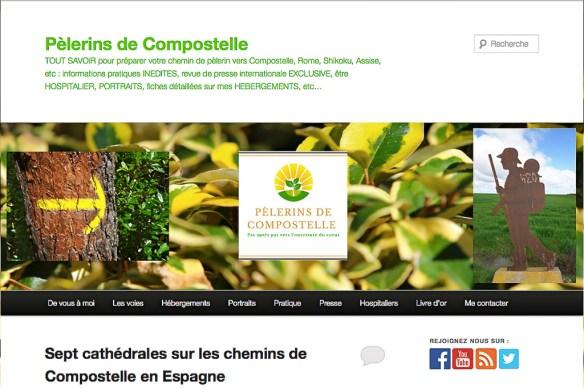 Site web Pèlerins de Compostelle
