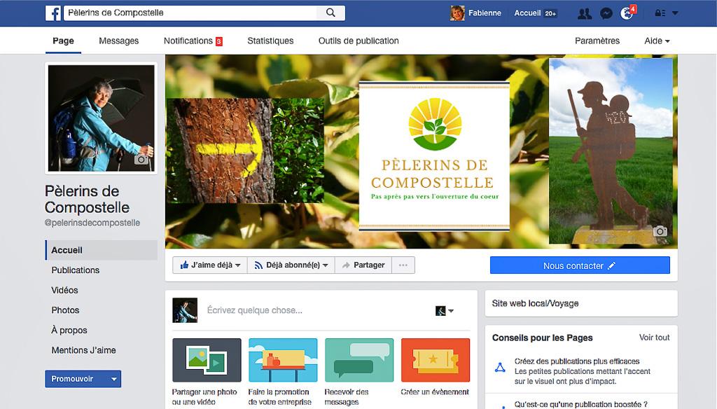 Page Facebook Pèlerins de Compostelle