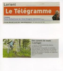 Fabienne Bodan Compostelle. Article Télégramme 12.04.2017 (1)