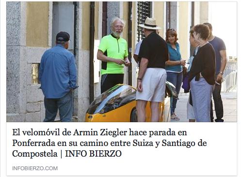 Armin Ziegler et sa velomovil