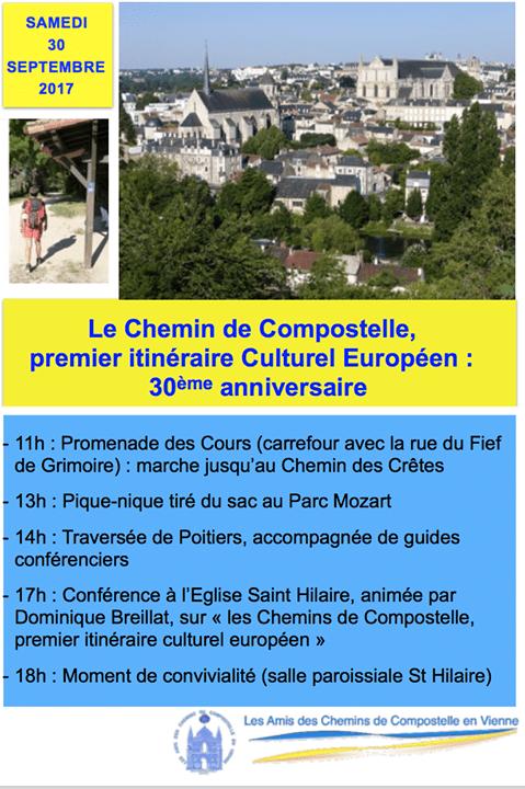 30e anniversaire du premier itinéraire culturel européen, Poitiers
