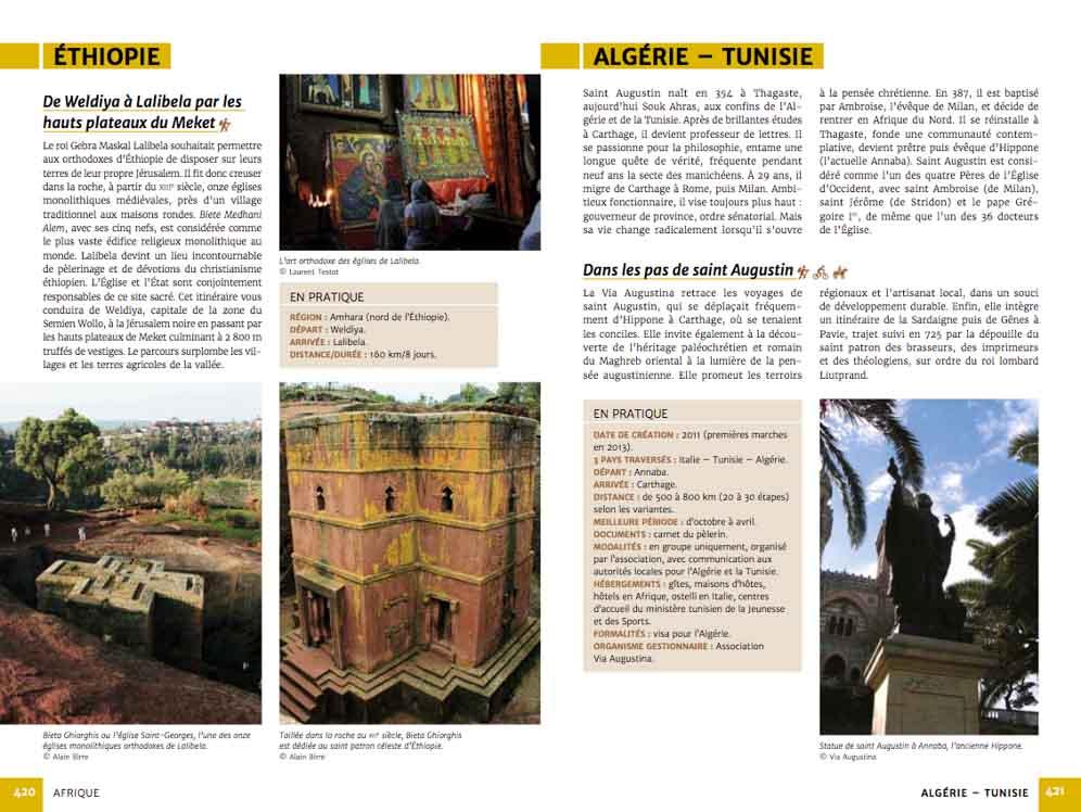 Guide chemins de pèlerinage du monde de Fabienne Bodan (extrait page Afrique)