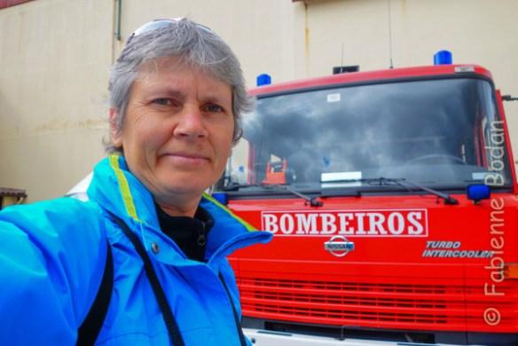 """A Mealhada, j'ai dormi chez les """"Bombeiros"""", les pompiers portugais. © Fabienne Bodan"""