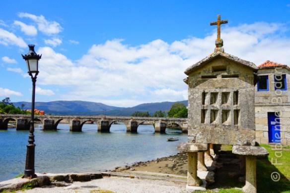 Le joli pont d'Arcade, entre Mos et Pontevedra (étape N°18). © Fabienne Bodan