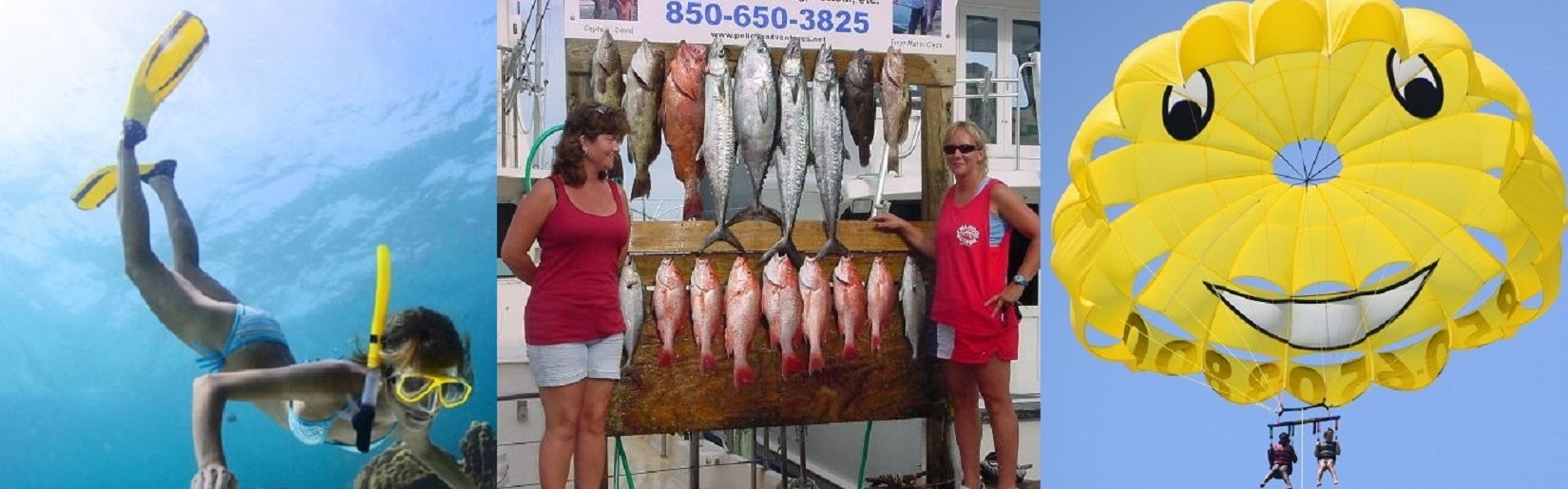 Fishing, Parasailing, & Snorkeling