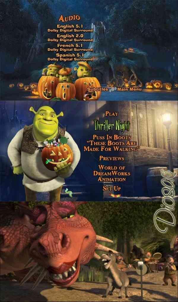 Menu Dvd Shrek 2