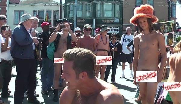 NUDE IN / BODY FREEDOM PARADE in San Francisco