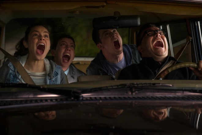 L-r, Odeya Rush, Ryan Lee, Dylan Minnette and Jack Black star in Columbia Pictures'