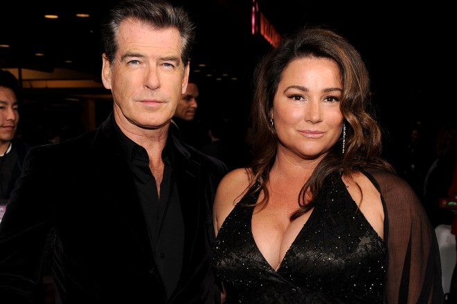 Actor Pierce Brosnan (L) and actress Keely Shaye Smith attend the 25th Independent Spirit Awards Hosted By Jameson Irish Whiskey held at Nokia Theatre L.A. Live on March 5, 2010 in Los Angeles, California. 25th Independent Spirit Awards Hosted By Jameson Irish Whiskey Nokia Theatre L.A. Live Los Angeles, CA United States March 5, 2010 Photo by Dimitrios Kambouris/WireImage.com  To license this image (59814248), contact WireImage.com