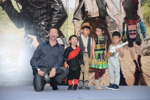 """Hugh Jackman and at Hong Kong junket for Warner Bros. Pictures' and RatPac-Dune Entertainment 's action adventure """"PAN,"""" a Warner Bros. Pictures release.  Photo courtesy of Warner Bros. Pictures."""