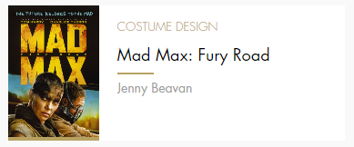 Costume Design Mad Max