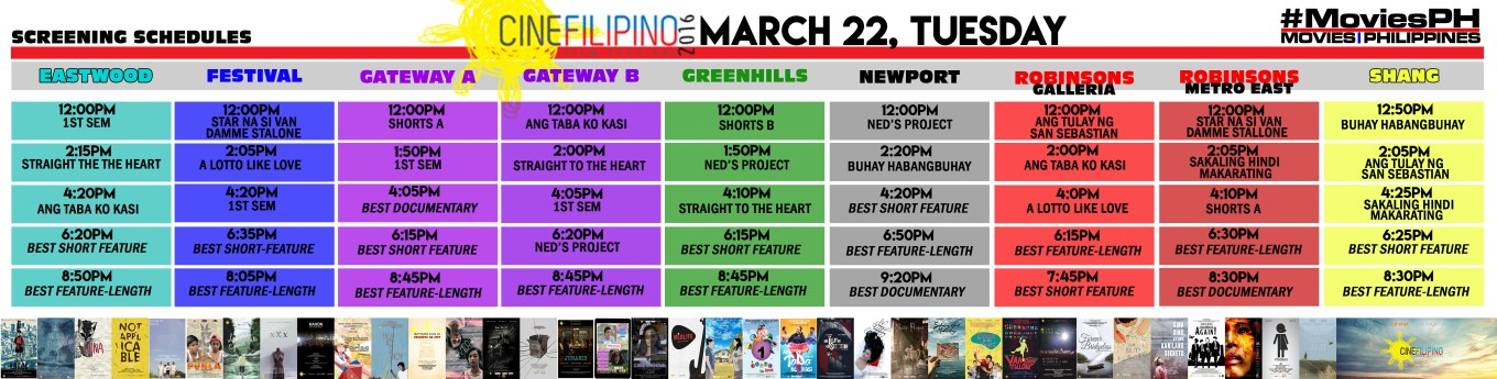 CineFilipino Sked March 22