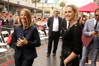 Jodie Foster and Kristen Stewart seen at ceremony honoring Jodie Foster with a star on Hollywood Walk of Fame on Wednesday, May 4, 2016, in Los Angeles.