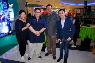 Rowena Tomeldan (Ayala Land Malls Inc President), Amir Precilla (General Manager Ayala Malls Cinemas), Sec. Rene Almendras & Mark Sablan - Sr. Div Mgr AyalaLand