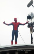 """NEW YORK, NY - OCTOBER 01: Tom Holland is seen filming """"Spiderman"""" on October 1, 2016 in New York City. (Photo by Steve Sands/GC Images)"""