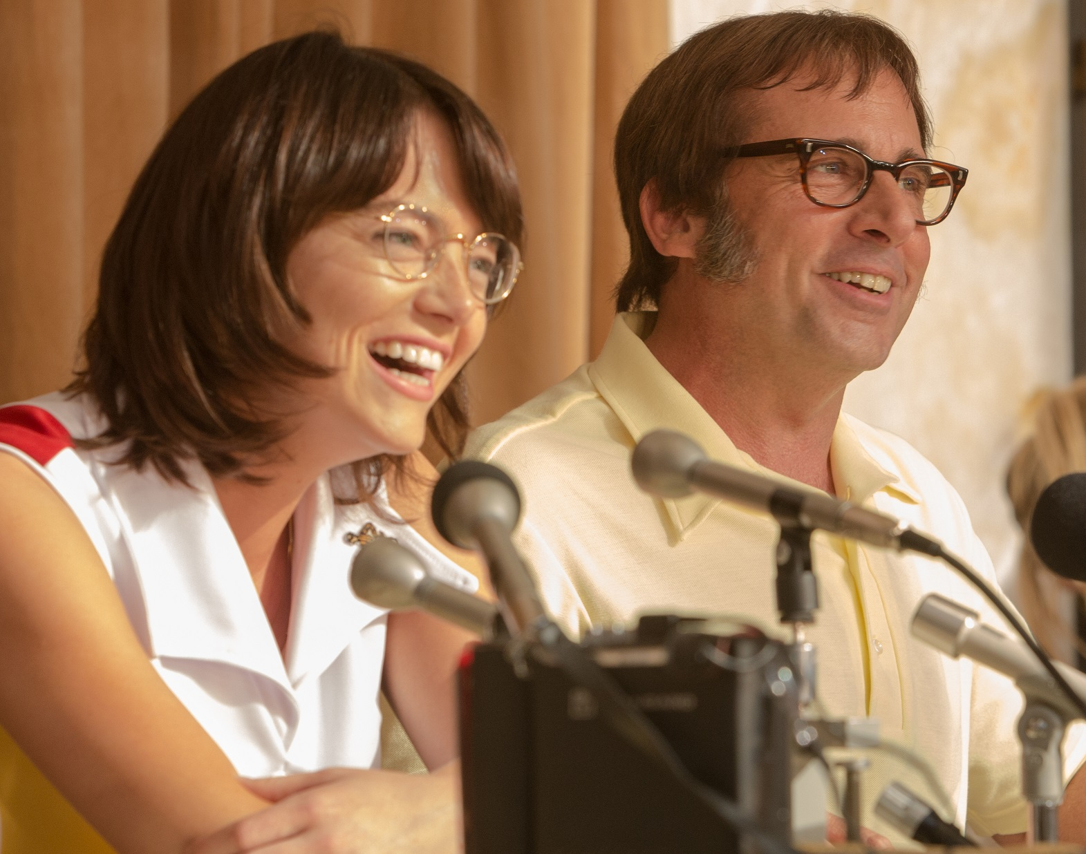 emma stone and steve carrell in BATTLE OF THE SEXES
