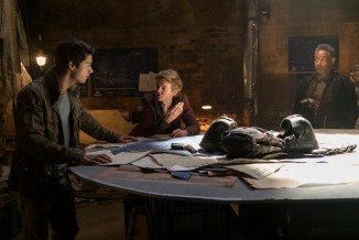 """L-r, Dylan O'Brien, Thomas Brodie-Sangster and Giancarlo Esposito in Twentieth Century Fox's """"Maze Runner: The Death Cure."""""""