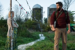 Left to right: Emily Blunt plays Evelyn Abbott and and John Krasinski plays Lee Abbott in A QUIET PLACE from Paramount Pictures.