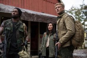 "L-r, Trevante Rhodes, Olivia Munn and Boyd Holbrook star in Twentieth Century Fox' ""The Predator."""