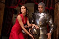 Olga Kurylenko as Ophelia and Rowan Atkinson as Johnny English star in JOHNNY ENGLISH STRIKES AGAIN, a Focus Features release.