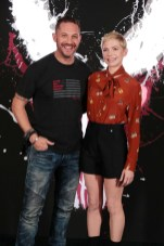 Beverly Hills, CA - Sept.27, 2018: Tom Hardy and Michelle Williams at Sony Pictures 'VENOM' Photo Call