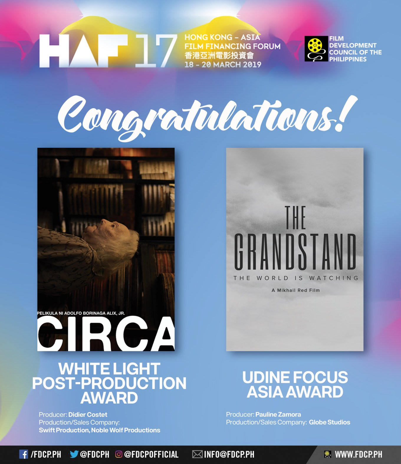 Filipino HAF 2019 Winners