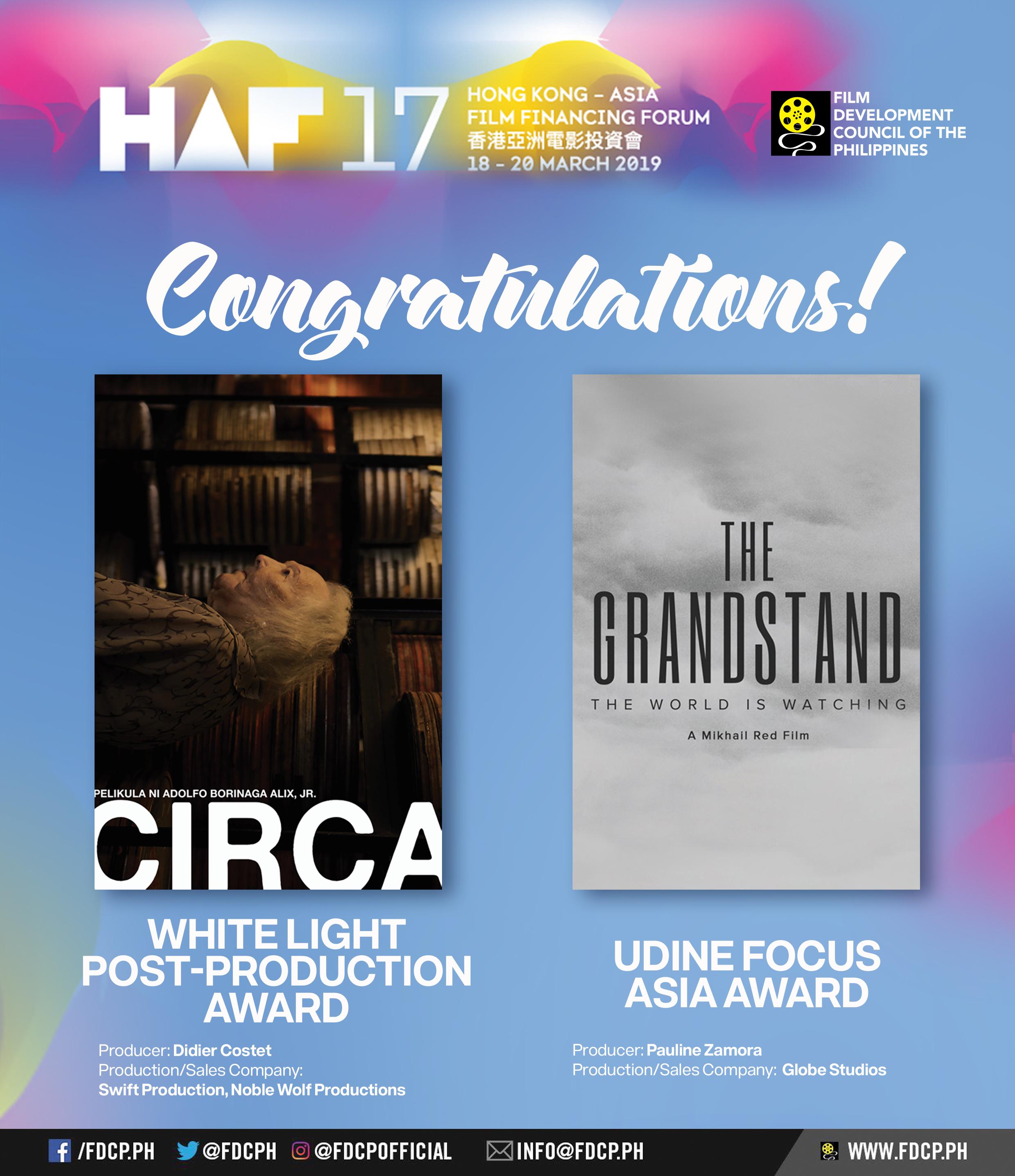 Filipino HAF 2019 Winners