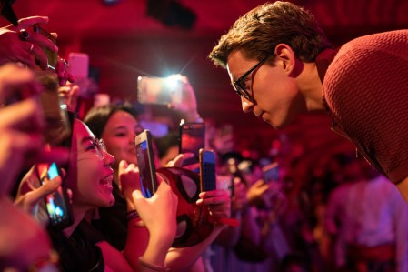 DENPASAR, BALI, INDONESIA - MAY 27: Tom Holland interacts with fans during the Spider-Man: Far From Home Pan-Asian Media Summit Bali event on May 27, 2019 in Denpasar, Bali, Indonesia. (Photo by Anthony Kwan/Getty Images for Sony Pictures Entertainment )