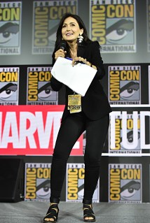 SAN DIEGO, CALIFORNIA - JULY 20: Jessica Chobot at the San Diego Comic-Con International 2019 Marvel Studios Panel in Hall H on July 20, 2019 in San Diego, California. (Photo by Alberto E. Rodriguez/Getty Images for Disney)