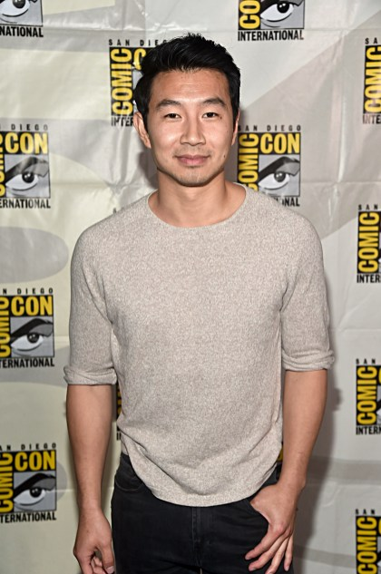 SAN DIEGO, CALIFORNIA - JULY 20: Simu Liu of 'Shang-Chi and the Legend of the Ten Rings' at the San Diego Comic-Con International 2019 Marvel Studios Panel in Hall H on July 20, 2019 in San Diego, California. (Photo by Alberto E. Rodriguez/Getty Images for Disney)