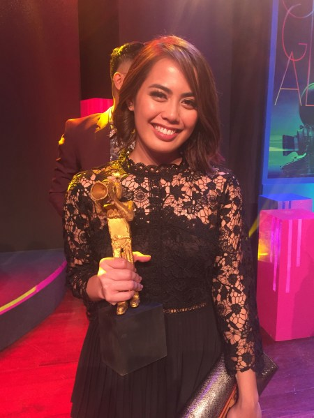 Iana Bernardez wins Best Supporting Actress for 'Metamorphosis' at the 2019 Cinema One Originals