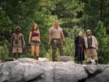 Kevin Hart, Karen Gillan, Dwayne Johnson, Awkwafina and Jack Black star in JUMANJI: THE NEXT LEVEL