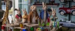 Mopsy (Elizabeth Debicki), Flopsy (Margot Robbie), Benjamin (Colin Moody), Peter Rabbit (James Corden) and Cottontail (Amy Horn) in Columbia Pictures' PETER RABBIT™ 2: THE RUNAWY.