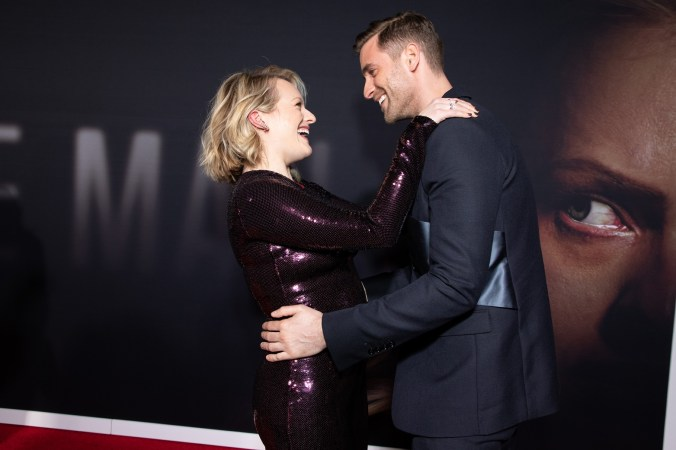 Elisabeth Moss and Oliver Jackson-Cohen attend as Universal Pictures presents the premiere of THE INVISIBLE MAN at the TCL Chinese Theater in Hollywood, CA on Monday, February 24, 2020. (Photo: Alex J. Berliner/ABImages)