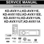 Сервис мануал+ схема для jvc KD-AVX11